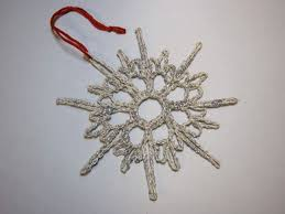project crocheted snowflake ornaments make