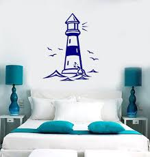 vinyl decal castle lighthouse birds ocean gull living room beach vinyl decal castle lighthouse birds ocean gull living room beach house decor wall sticker z2522