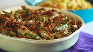 s green bean casserole with celery root and bacon recipe