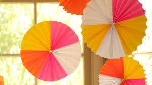 hanging paper fans how to make paper fan medallions