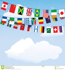 Flags Of The Wrld Flags Of The World Bunting Stock Vector Image Of Canada 26130279