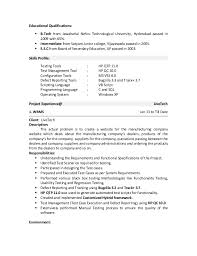 Sqa Resume Sample First Class Qa Tester Resume 4 Entry Level Qa Tester Resume Sample