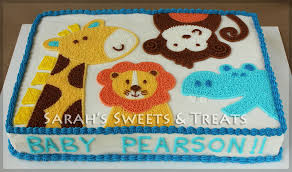 zoo themed birthday cake blue ombre animal cake sarah s sweets treats
