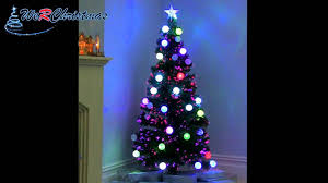 Color Changing Christmas Trees - christmas maxresdefault ft pre lit fibre optictmas tree with