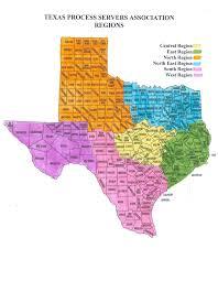 Corpus Christi Map Texas Process Servers Association Tpsa Regional Map