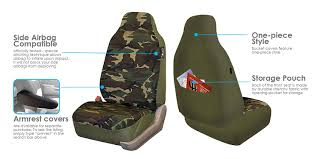 amazon com fh group fb109115 full set camouflage car seat covers