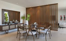 Living Room And Dining Room Divider Room Divider Screen Living Room Midcentury With Artwork Brown
