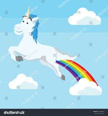 Unicorn Cloud by Unicorn Flying Rainbow Stock Vector 498689086 Shutterstock
