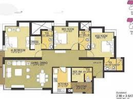 Pioneer Park Gurgaon Floor Plan 3 Bhks Flats Apartments For Rent In Sector 61 Gurgaon Nestoria
