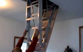 how to install attic pull down stairs youtube