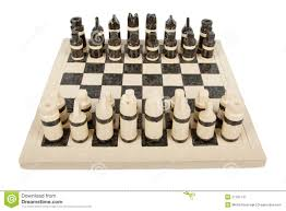 unique handmade chess set pottery isolated royalty free stock