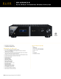elite g clef sx a9mk2 k manuals users guides