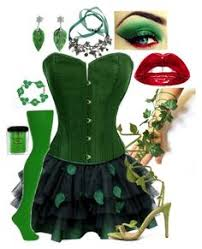 Halloween Poison Ivy Costume Poison Ivy Costume Halloween Party Poison Ivy
