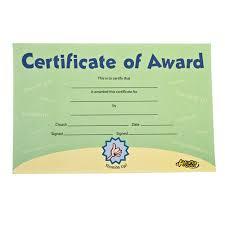 awana clubs certificate of award awana