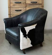 Cowhide Chairs And Ottomans Cowhide Armchair Cowhide Tub Chair Leather Cowhide Feature