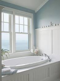 bathroom crown molding ideas cottage master bathroom with drop in bathtub beadboard