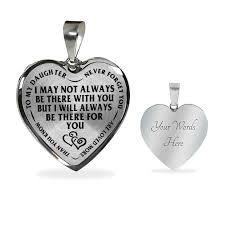 steel heart necklace images Mother daughter always there for you stainless steel pendant png