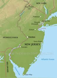 Physical Map Of The United States by Physical Map Of New Jersey