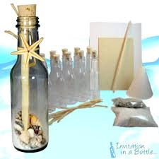 amazon com 20 beach theme message in a bottle invitations glass