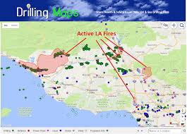 Gas Map Drilling Maps Map Of La U0026 Ventura Fires Near Oil U0026 Gas Fields