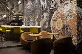 cool ramen restaurant in vietnam integrating a mosaic wall