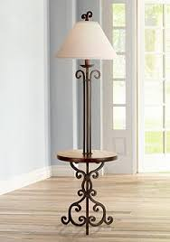 wood with tray table floor lamps lamps plus