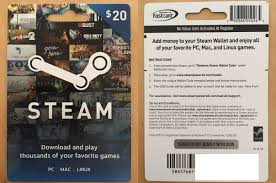 steam card steam 20 gift card
