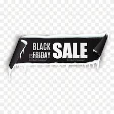 black friday sale sign black friday sale ribbon banner isolated on transparent background
