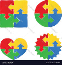 free puzzle piece template shapes of jigsaw puzzle pieces royalty free vector image shapes of jigsaw puzzle pieces vector image
