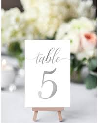 silver wedding table numbers deal alert silver table numbers wedding silver wedding table number