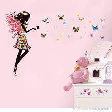angel fairy girl butterflies wall sticker decal diy kids nursery angel fairy girl butterflies wall sticker decal diy kids nursery decor mural art