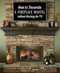 Fireplace Mantels For Tv by Decorating A Fireplace Mantel With A Tv Above It Peach Blossom Style