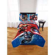 captain america bed sheets marvel avengers civil war twinfull