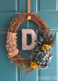 fall wreath ideas diy vintage inspired feathered fall wreath 6 more handmade fall