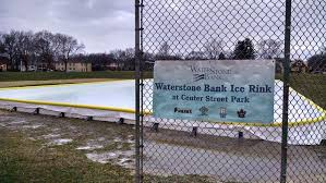 waterstone bank ice rink u2014 friends of center street park