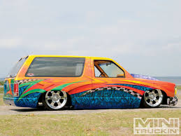 1991 chevy s10 blazer custom chevy trucks mini truckin u0027 magazine