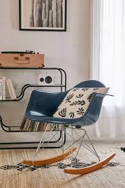 Living Room Rocking Chairs Modernica Fiberglass Arm Shell Rocking Chair Urban Outfitters