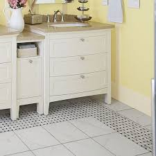 add timeless luxury to your bathroom with marble mosaic floor tile