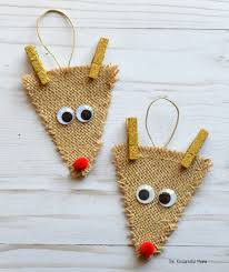 reindeer ornaments burlap reindeer ornament the resourceful