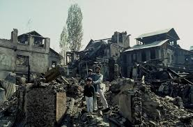 houses destroyed by indian airforce srinigar kashmir india