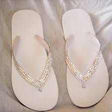 wedding flip flops wedding sandals ivory wedding flip flops
