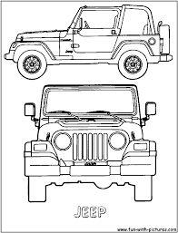 safari jeep cartoon coloring pages