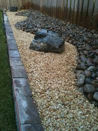 landscaping diy backyard rock river garden with black and cream