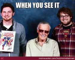 me and my friend at comic con with stan lee by holymemebatman meme