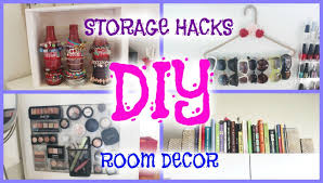 Diy Bedroom Decor by Diy Room Decor Storage Hacks Howtobyjordan Youtube