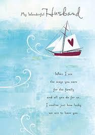 sailboat husband birthday card funky pigeon