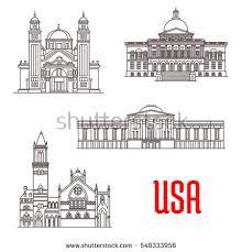 Massachusetts travel icons images Italian travel landmark building thin line stock vector 640994017 jpg
