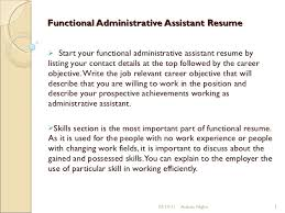 Executive Assistant Functional Resume Functional Administrative Assistant Resume 9