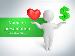 choose between love and money powerpoint template u0026 backgrounds id