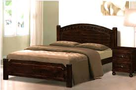 bedroom charming brown laminated ironwood flat bed frame white